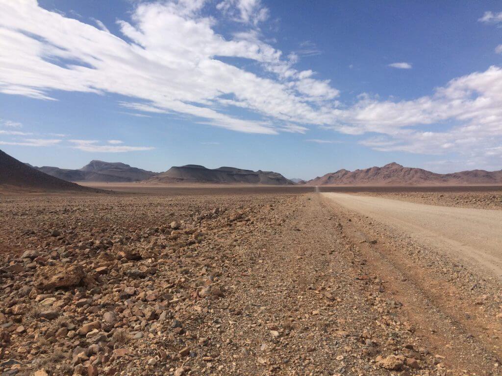 self drive namibia, open road